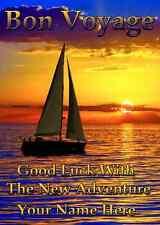 Bon Voyage Sunset Card PIDZ043 BON VOYAGE  A5 Personalised  Greeting Card