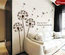 new diy Dandelion Wall Sticker Wall Mural Home Decor Room Decals Wallpaper