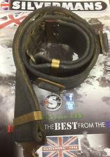 1937 pattern British Army webbing Equipment belt + rear buckles all good [09016]
