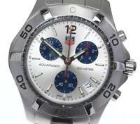 TAG HEUER Aqua racer CAF1111 Chronograph Silver Dial Quartz Men's Watch_603584