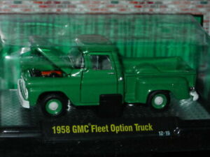 M2 MACHINES AUTO TRUCKS 1958 58 GMC FLEET OPTION PICKUP TRUCK -Dark Green, MIP