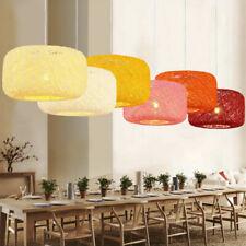 8 Color Chandelier Dining Room Pendant Light Lighting Rattan Hang Lamp Fixtures