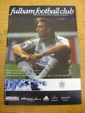 02/11/2000 Fulham v Derby County [Football League Cup] . Item appears to be in g