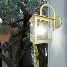 LED Außen Beleuchtung Veranda Laterne Metall creme weiß Haus Wand Strahler Glas