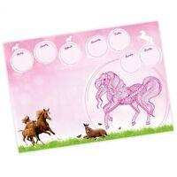A2 Schreibtischunterlage Pferde 25 Blatt für Schulkinder rosa pink Mandala