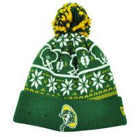 NFL New Era Sweater Chill Green Bay Packers Pom Pom Cuffed Knit Beanie Winter