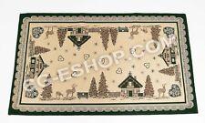 PAIRE TAPIS tapis TYROLIEN TYROL BADIA cm 65X110 pièce chambre à coucher VERT
