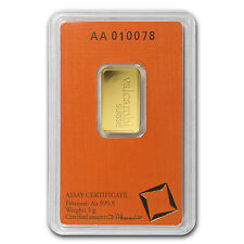 5 gram Gold Bar - Valcambi (In Assay) - SKU #77422