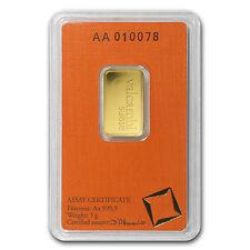 5 gram Valcambi Gold Bar - In Assay - SKU #77422
