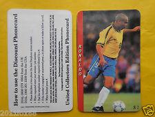 1997 phone cards $2 ronaldo brasile brazil schede telefoniche 1997 telefonkarten