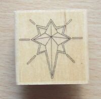 DoCrafts PAPERMANIA Wood Mounted Rubber Stamps CHRISTMAS STAR PMA 10005
