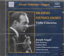 BRAHMS  MENDELSSOHN VIOLONO CONCERTOS SZIGETI CD