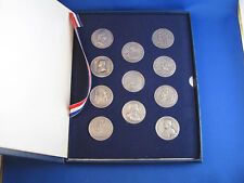 1973 America's First Medals US Mint Pewter Art Set B4690