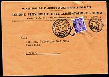 1945 - RSI - cent.50 Monumenti Distrutti uso singolo come segnatasse - Raro !!!!
