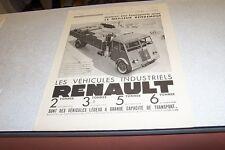 PUBLICITE ANCIENNE DE L ILLUSTRATION 1941 CAMION VEHICULES RENAULT 2 3,50 TONNES