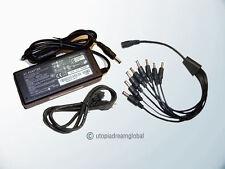 DC 12V 5A Power Supply Adapter + 8 Split Power Cord For CCTV Security Camera DVR
