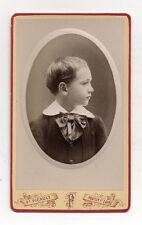 PHOTO - CDV - Portrait jeune garçon - F. PICAULT - Pouilly Sur Mer - Vers 1900.