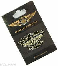 HARLEY DAVIDSON 110TH ANNIVERSARY WINGS SCRIPT  VEST  PIN ** NEW ON CARD **
