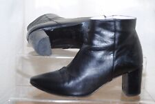 Sole Bliss Ladies Black Soft Leather Ankle Boots Uk Size 4