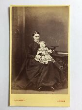 Victorian Carte De Visite CDV Photo - Lady And Child - Slingsby – Lincoln
