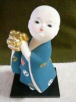 "Hakata Doll, ""Boy With Crown"", Japanese Hakata Association Sticker #1"