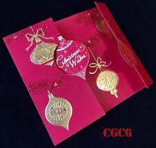 Gold Glitter Art Deco Range Merry Christmas Card Happy New Year Wish Gold Card🌲
