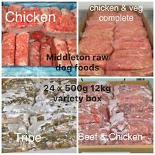 More details for variety box frozen dog food 24x 500g bags 12kg box. barf raw diet delivered