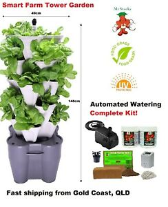 Smart Farm Hydroponic Tower Garden - Automated Electric Vertical Garden Kit