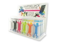 1pc Adjustable Jumping Jack Cell Phone & Tablet Clip Vertical Horizontal Stand