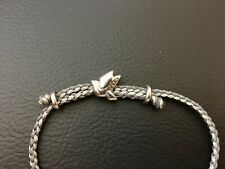 Links Of London Feed 50 Dove Adjustable Bracelet Sterling Silver Glittery Cord