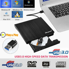 External ROM Usb3.0 CD DVD RW Drive Rewriter Burner Reader Windows MACPC Laptop