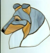Stained Glass Dog - Collie - Rough - Blue Merle