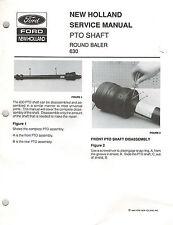 "New Holland 630 Round Baler Pto Shaft Service Manual ""New"""