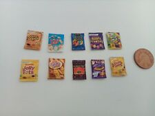 1/12 Scale Assorted Sweet Packs set of 10 for Dollhouse *