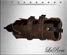 La Rosa Rustic Brown Leather Bottle Strap On Holder + 30oz Gas Fuel Bottle