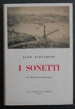 Acquarone I SONETTI IN DIALETTO GENOVESE 1959 Soc. Commerciale Libraria Poesia