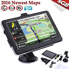 "7"" Truck Car GPS Navigator Navigation 8GB Sat Navi Canada Mexico US EU World Map"