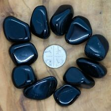 11 x Black Obsidian Tumblestones Crystals 75g+ Wholesale Therapists Healers