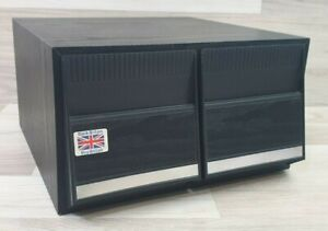Black Ash Wood Effect CD Media Storage Case Drawers Retro Holds 40 CDs Mancave