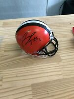Josh Gordon signed MINI Helmet Clevland Browns,COA INCLUDING PHOTO of signing
