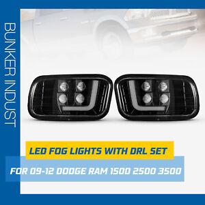 BUNKER INDUST LED Fog Lights with DRL for Ram 2009-2012 1500,2010-2014 2500