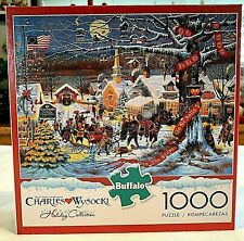 WYSOCKI Jigsaw Puzzle 1000 PC SMALL TOWN CHRISTMAS Holiday Collection