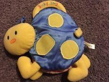 Carter Yellow Blue Fleece Satin Cloth Baby Play Carry Book BUSY BUG Ladybug Frog