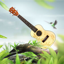 Professional Concert Ukulele Hawaii Guitar 23 Inch 4 String Ukelele Bird Pattern