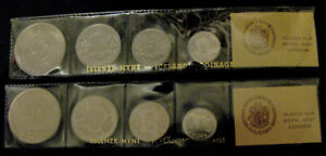 Iceland Coin set 1976 and 1977, uncirculated.