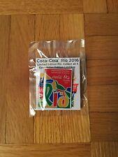 Rio 2016 Olympic Coca-Cola Pin Mcdonalds Promo (Square)
