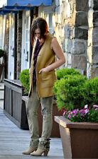 Ralph Lauren Blue Label Reversible Leather Linen Vest Indian Blanket Size Small