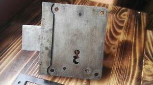 1 von 2 Altes Kastenschloss Inkl Schlüssel Und Schlossfalle Schliessblech ##5