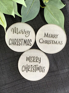 Merry Christmas Cookie Embosser.Christmas Cookie Stamp. 3D Raised Finish.