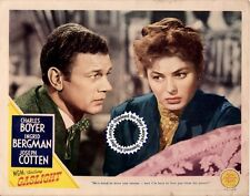 1944, Ingrid BERGMAN (close-up), Joseph COTTEN Lobby Card GASLIGHT (1944) Vint+